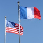 flag francji-flaga usa