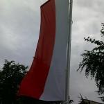 flaga polski na maszcie EKO